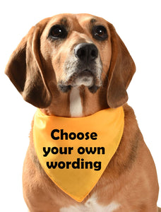 personalise yellow dog warning/training/nervous dog bandana