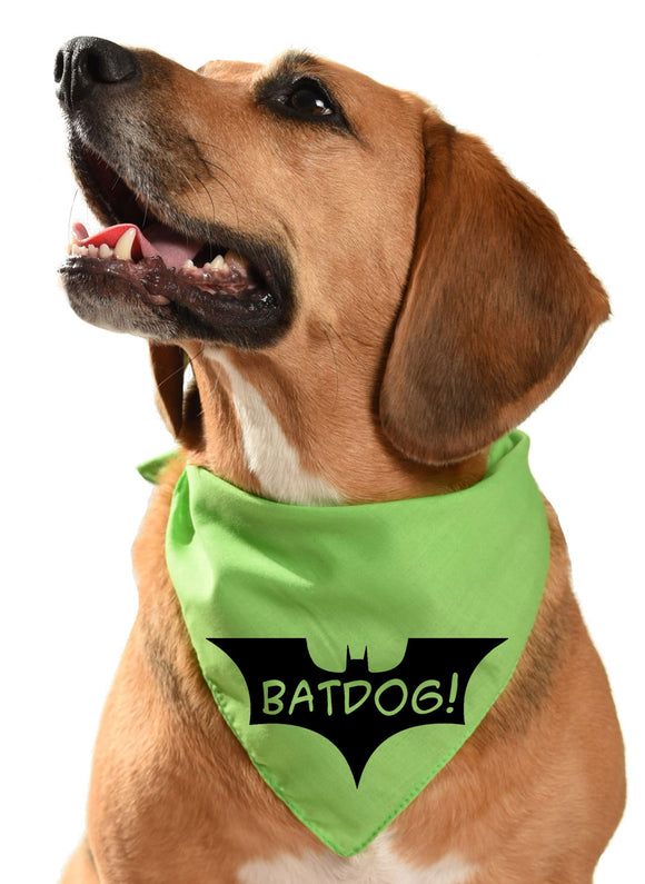 batdog batman dog bandana pengiun, catwoman, poison ivy, mr freeze, christian bale, dark knight