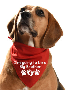 I'm going to be a big brother dog bandana new baby announcement for your dog