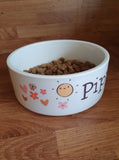 CUTE CERAMIC DOG BOWL HANDMADE