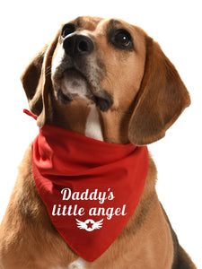 daddys little angel dog bandana daddy's boy daddy's girl