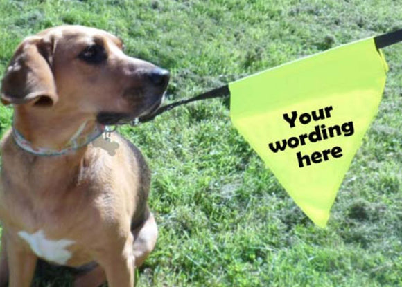 dog lead bunting with your own wording