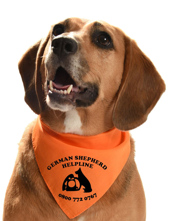 german shepherd helpline charity bandana