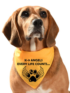 k9 angels charity dog bandana