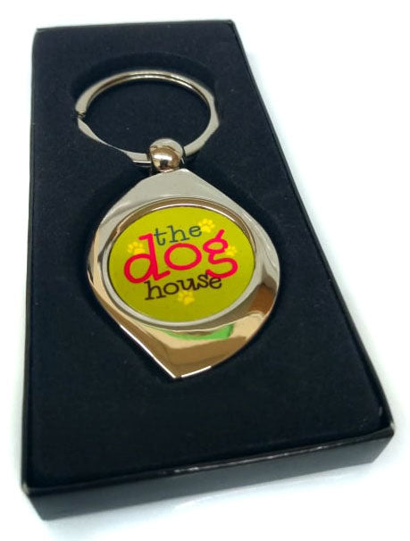 CUTE DOGGY KEYRING - IN THE DOGHOUSE - ORIGINAL DESIGN