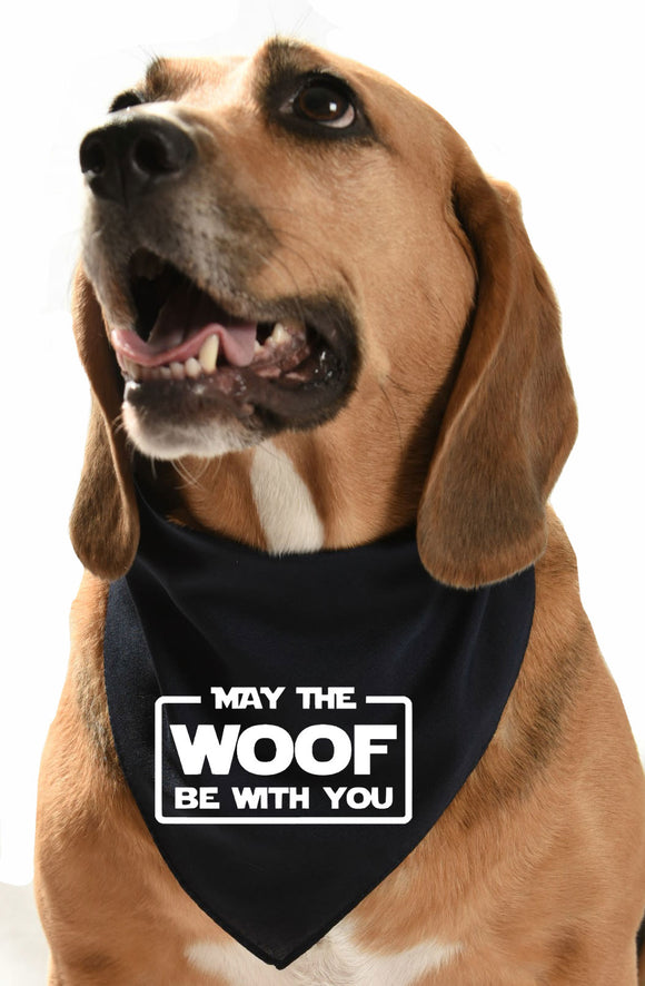 May the woof be with you Star Wars dog bandana
