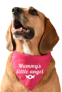 mummy's little angel dog bandana mummies boy mummies girl