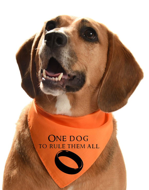 one dog to rule them all Lord of the rings and The Hobbit dog bandana