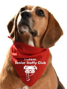 senior staffy club dog fundraising bandana