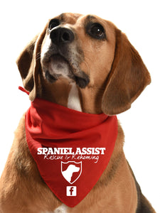 spaniel assist fundraising dog bandana