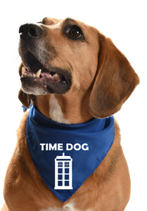 time dog dr who dog bandana time lord