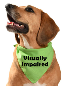 blind dog visually impaired dog bandana for dogs who can't see well