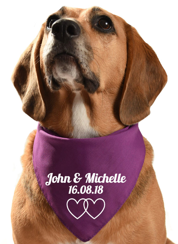 personalised wedding / civil ceremony dog bandana