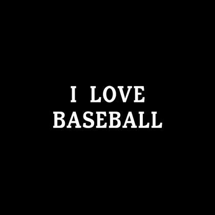 I Love Baseball - Jomboy Media