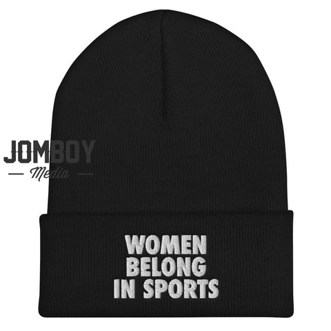 Women Belong In Sports | Beanie - Jomboy Media
