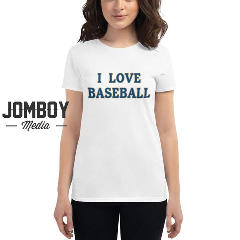 I Love Baseball | Royals | Women's T-Shirt - Jomboy Media