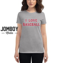 Load image into Gallery viewer, I Love Baseball - Reds Womens