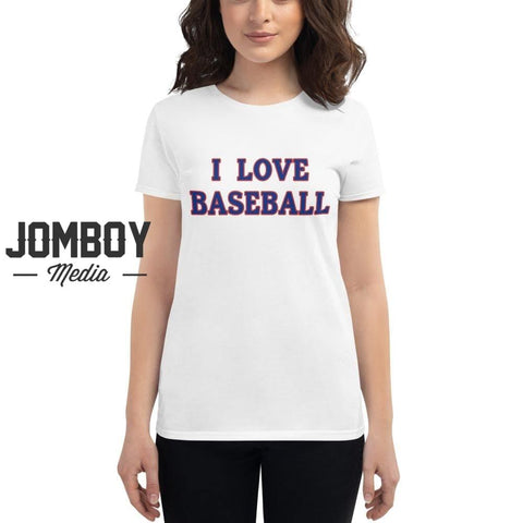 I Love Baseball - Cubs Women's T-Shirt