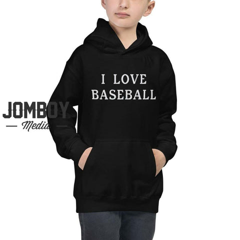 I Love Baseball - Youth Hoodie