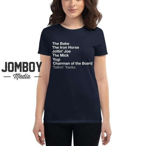 Yankees Legends List | Women's T-Shirt - Jomboy Media