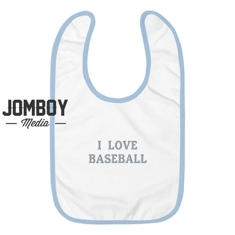 I Love Baseball | Baby Bib