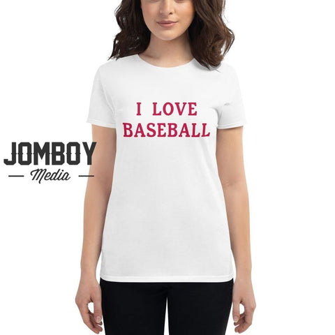 I Love Baseball - Braves Women's T-Shirt
