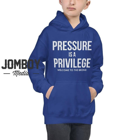 Pressure Is A Privilege | Youth Hoodie