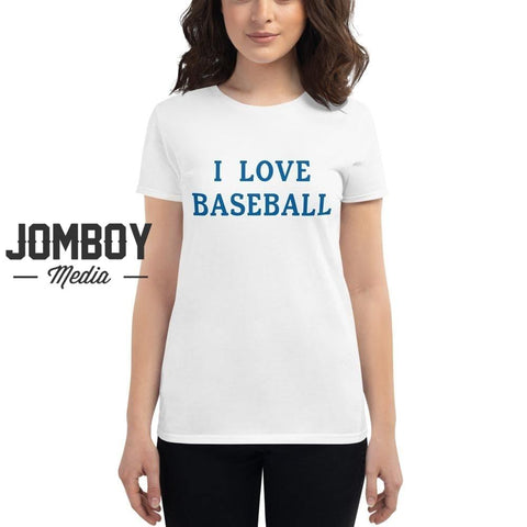 I Love Baseball | Dodgers | Women's T-Shirt - Jomboy Media