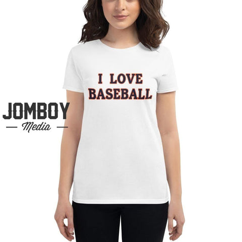 I Love Baseball | Tigers | Women's T-Shirt - Jomboy Media