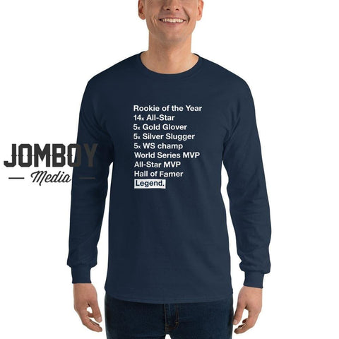 Derek Jeter List | Long Sleeve Shirt - Jomboy Media