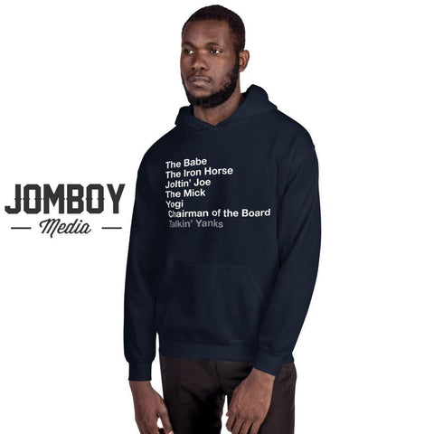Yankees Legends List | Hoodie - Jomboy Media