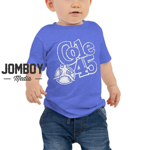 Cole 45 - Baby Tee (White Lettering)