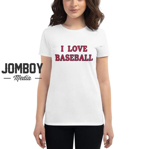 I Love Baseball - Cardinals Womens