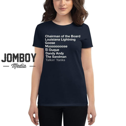 Pitching Legends List - Women's T-Shirt