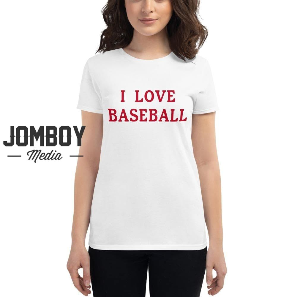 I Love Baseball - Reds Womens
