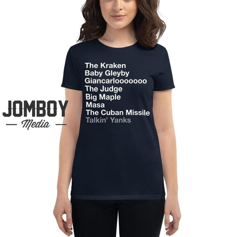 2020 Yankees List | Women's T-Shirt - Jomboy Media