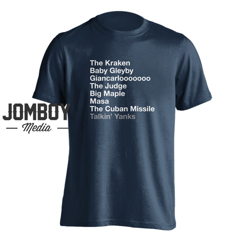 2020 Yankees List | T-Shirt - Jomboy Media