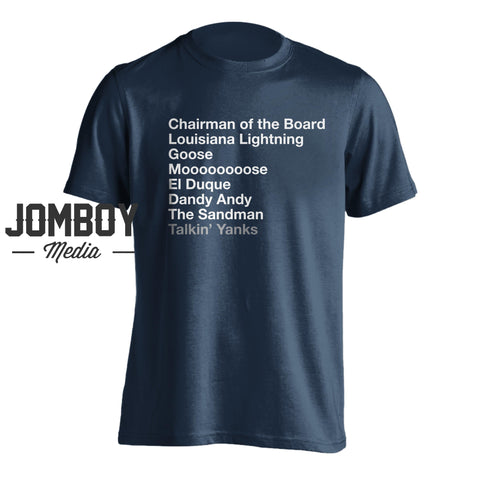 Pitching Legends List - T-Shirt