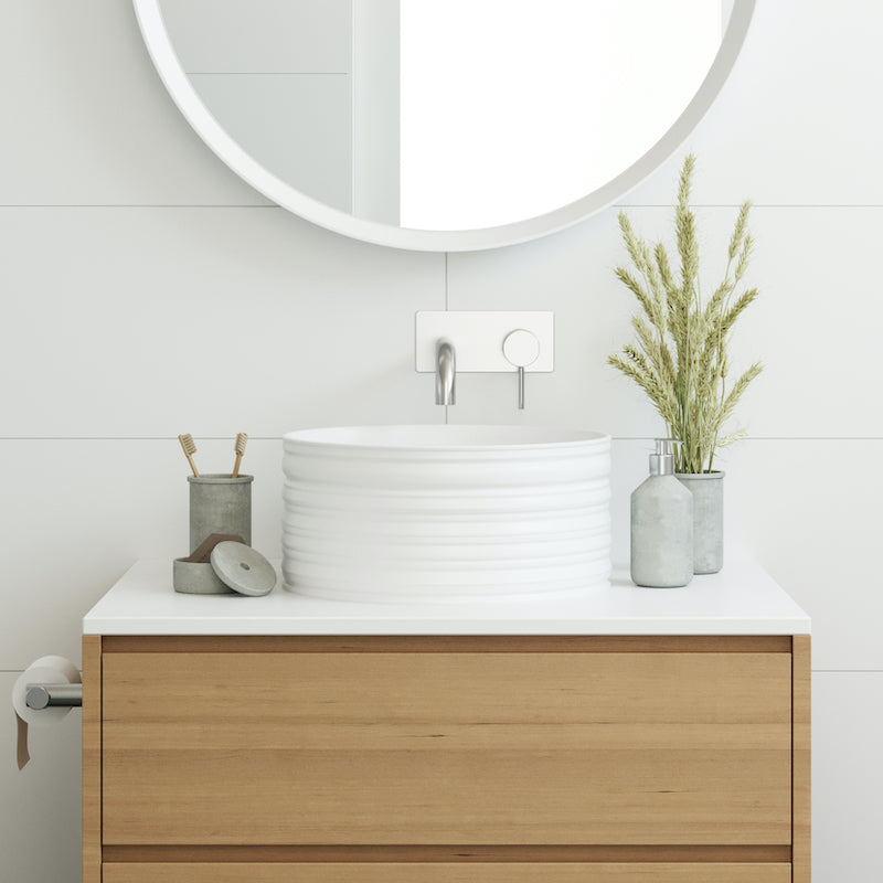 Eight Quarters Basins - Willow Circle White