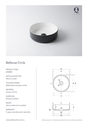 Eight Quarters Wash Basin - Bellevue Circle Specs