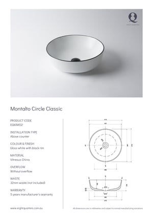 Eight Quarters Basins - Montalto Circle Classic