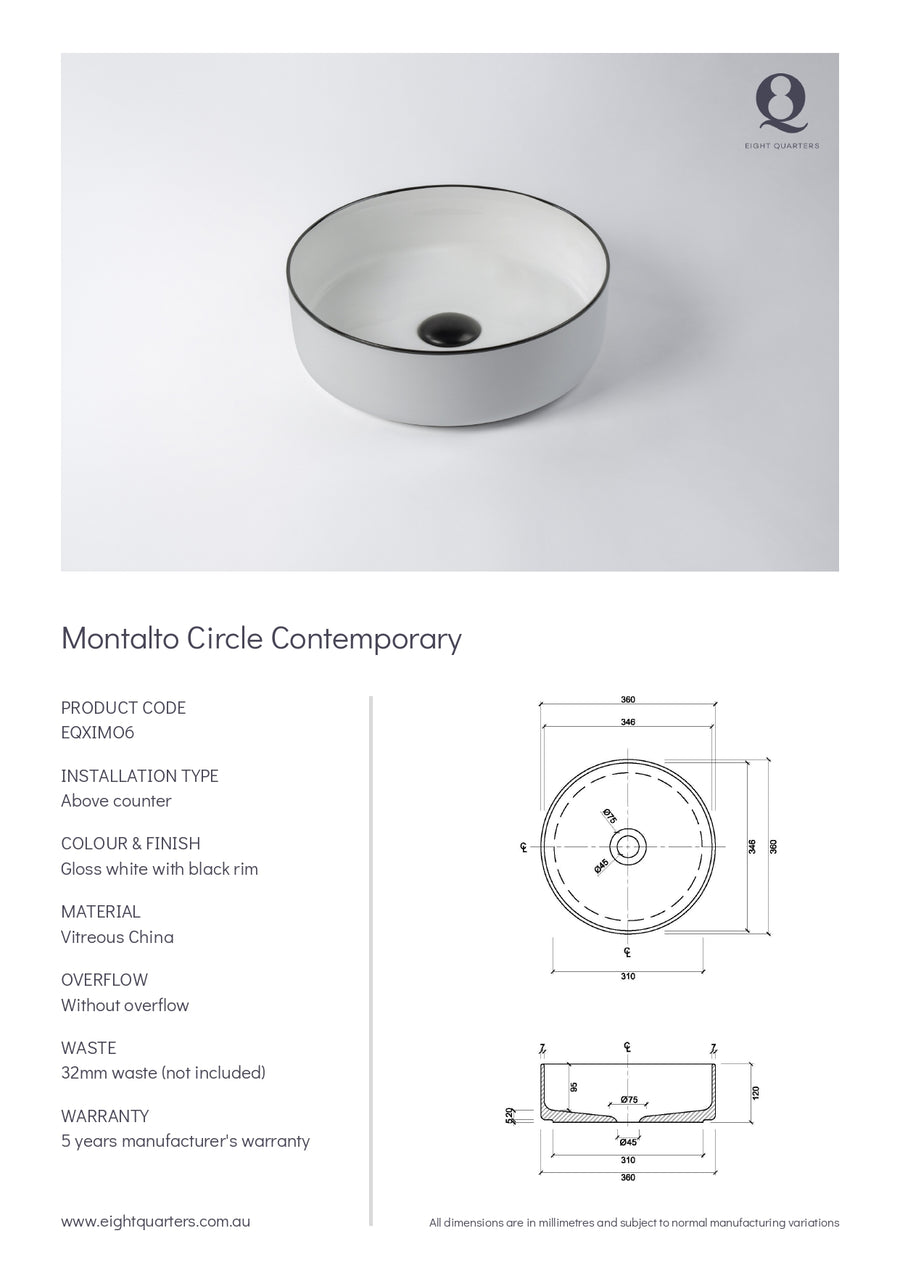 Eight Quarters Basins - Montalto Circle Contemporary