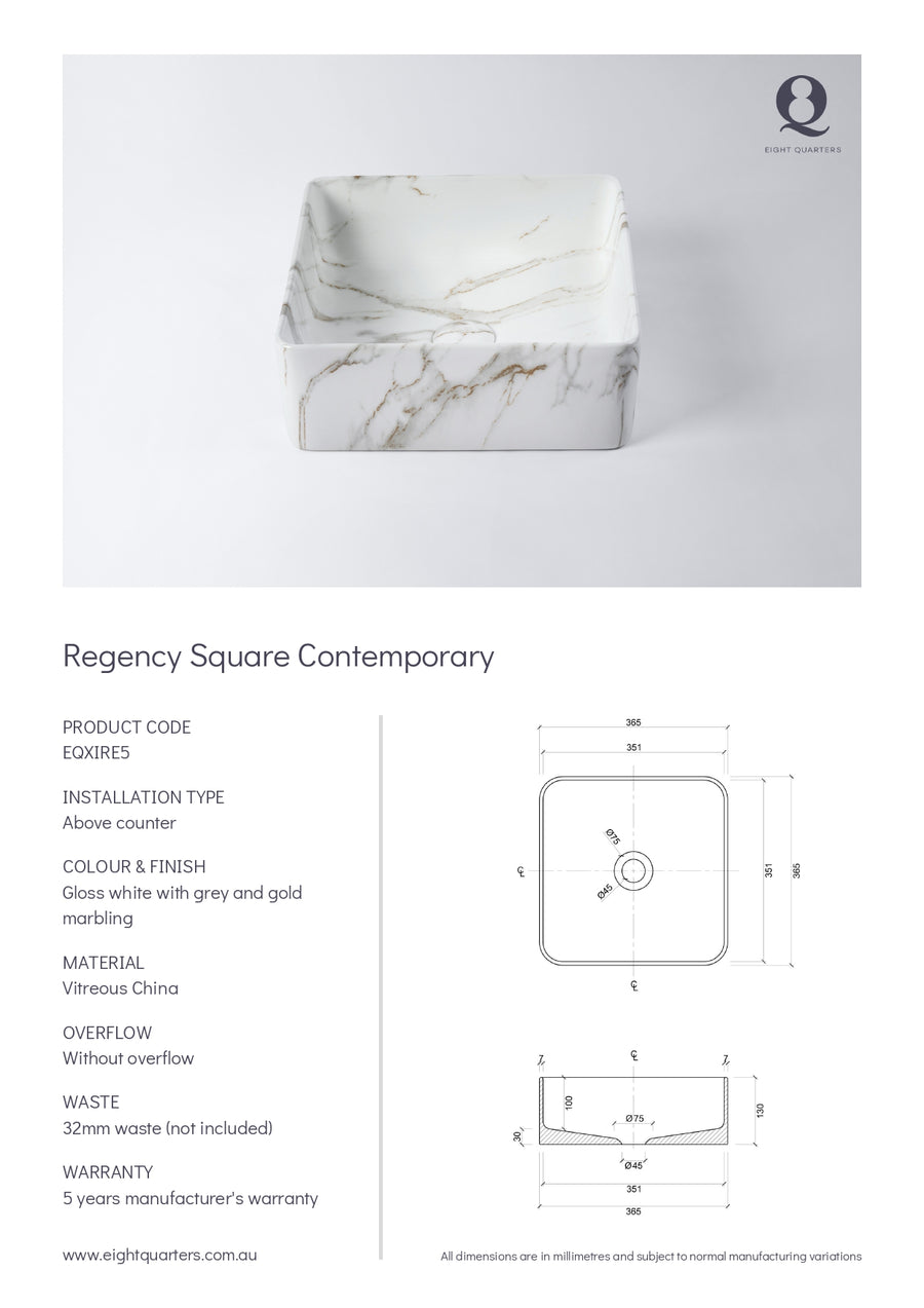 Eight Quarters Basins - Regency Square Contemporary
