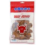 HOT FLAVORED BEEF JERKY 中國牛肉干 辣味-Chinese Brand Beef Jerky
