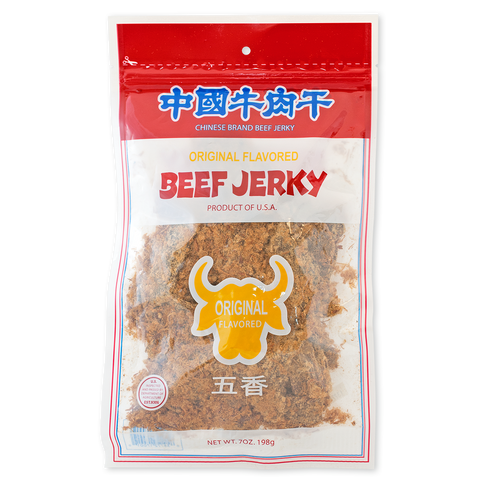 ORIGINAL FLAVORED BEEF JERKY 中國牛肉干 原味-Chinese Brand Beef Jerky