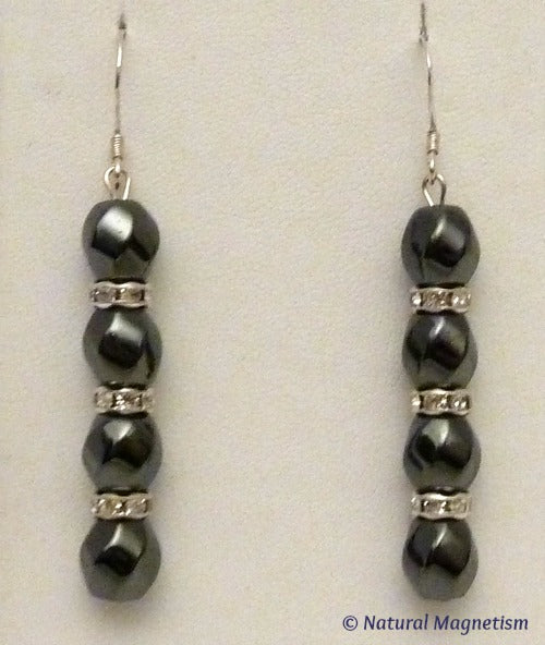 Handcrafted Magnetite Magnetic Earrings