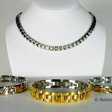 Stainless Steel And Titanium Link Magnetic Jewelry