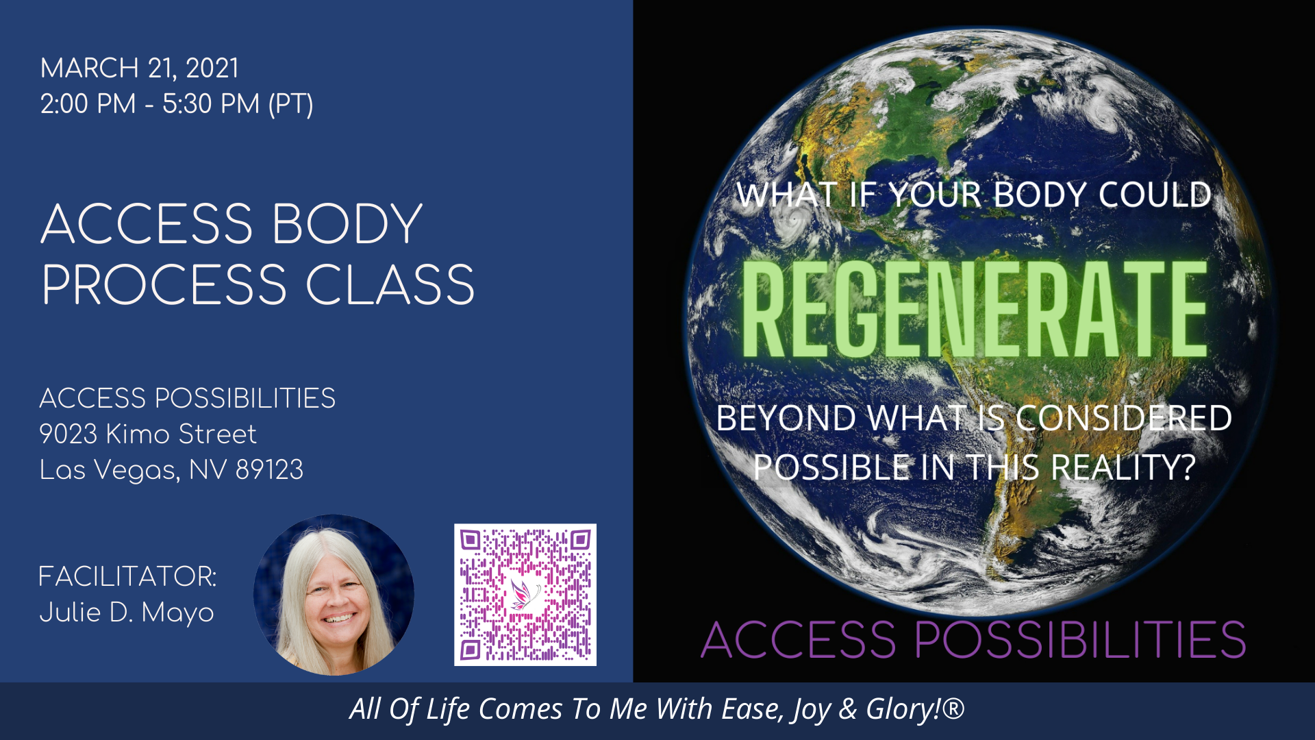 Access Body Process Class with Julie D. Mayo | May 16 PM | Access Possibilities