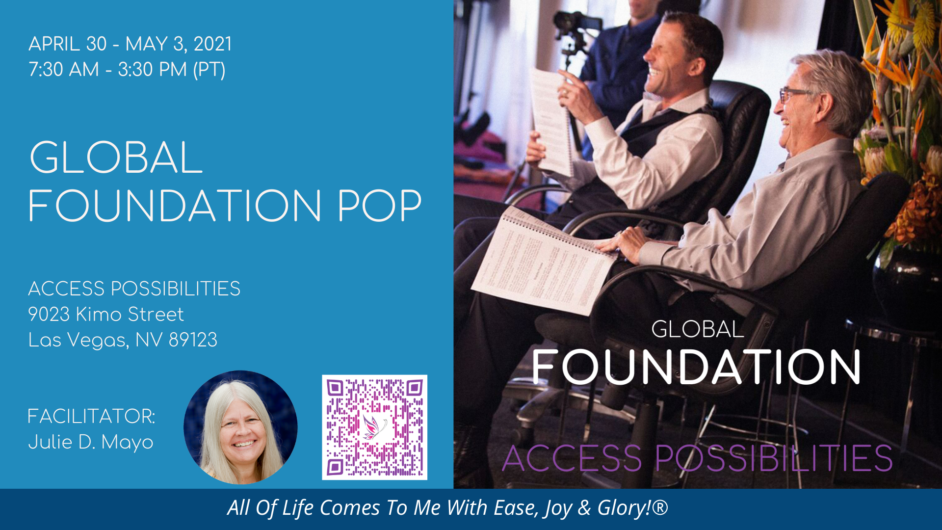 Global Foundation POP 2021 | Party of Possibilities | Access Possibilities | Las Vegas Nevada
