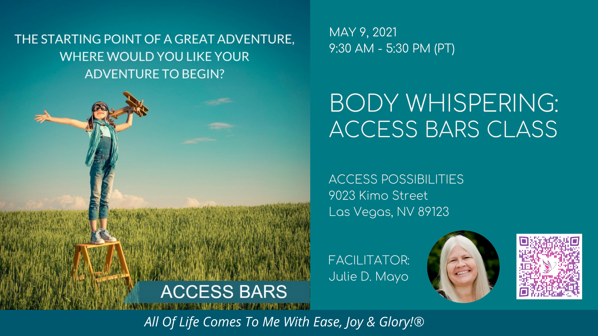 Access Bars Class Details   May 9   Access Possibilities